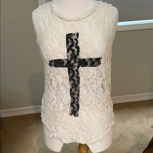 Forever 21 knit cross top